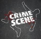 Våldsamt mordmord för brottsplats som förbjudas område Arkivfoton