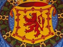 Våldsamt symbol för lejon av SKOTTLAND Royaltyfri Fotografi