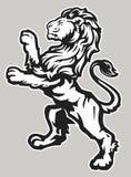 Stå stolt Lion stock illustrationer