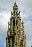 vår antwerp Belgien domkyrkalady Royaltyfri Foto