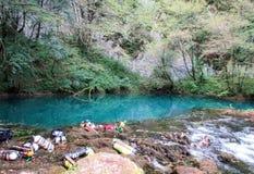Vår av floden Una Arkivbilder