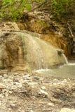 Vår av termiskt vatten av Bagni san filippo fotografering för bildbyråer