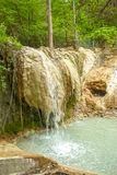 Vår av termiskt vatten av Bagni san filippo arkivbild