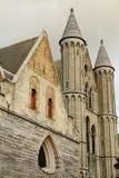 vår Belgien bruges kyrklig lady Royaltyfria Foton