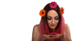 Vår brunnsortkvinna Royaltyfria Bilder