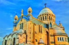 Vår dam av den Afrika basilikan i Algiers, Algeriet royaltyfri bild