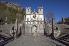 Vår dam av den Peneda fristaden aka Santuario da Nossa Senhora da Peneda royaltyfri fotografi