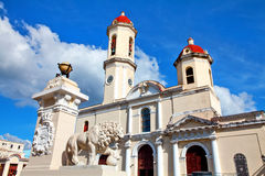 Vår dam av domkyrkan för obefläckad befruktning, Cienfuegos, Kuba royaltyfri foto