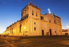 Vår dam av Grace Cathedral i Leon, Nicaragua royaltyfri foto