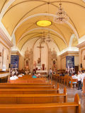 Vår dam av La Paz Cathedral Interior Royaltyfri Fotografi
