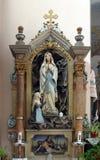 Vår dam av Lourdes Royaltyfri Bild