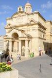 Vår dam av segerkyrkan på La Valletta på Malta Royaltyfria Foton