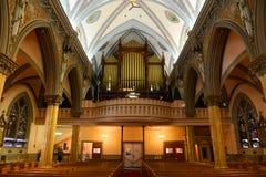 Vår dam av segrar kyrka, Boston, USA arkivfoto