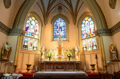 Vår dam av segrar kyrka, Boston, USA royaltyfria foton