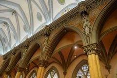 Vår dam av segrar kyrka, Boston, USA royaltyfri bild