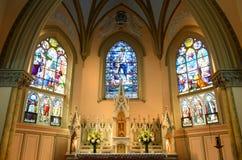 Vår dam av segrar kyrka, Boston, USA royaltyfri foto