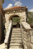 Vår dam av vagga, Perast, Montenegro Arkivfoton