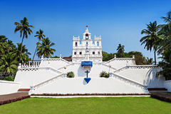 Vår dam Church, Goa Arkivfoto