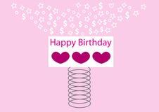 Vår för lycklig födelsedag Fotografering för Bildbyråer