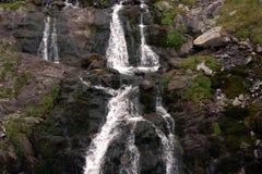 Vår för Transfagarasan vattenfallflod Royaltyfri Foto