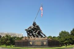 vår faderflaggaIwo Jima minnesmärke Arkivbild