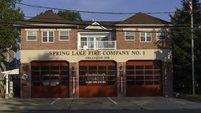Vår Firehouse för sjö NJ Royaltyfria Foton