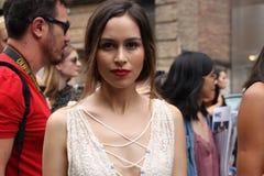 Vår 2016, gatakläder för New York City modevecka royaltyfri fotografi