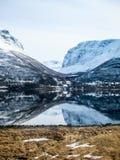 Vår i de Lyngen fjällängarna, Norge Royaltyfri Bild