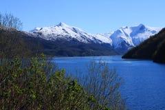 Vår i norr og Norge Arkivfoton