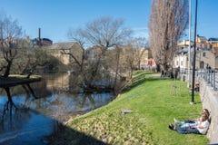 Vår i Norrköping, Sverige Arkivfoton