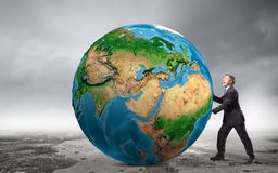 Vår jordplanet Royaltyfri Bild