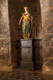 Vår Lady av segerstatyn från det 17th århundradet Arkivfoton