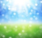 Vår och sommarbakgrund Arkivfoton