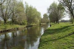Vår på floden Niers Fotografering för Bildbyråer
