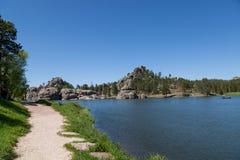 Vår på Sylvan Lake royaltyfria bilder