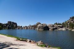 Vår på Sylvan Lake royaltyfri bild