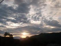 Vår solnedgång royaltyfri fotografi