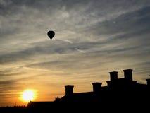 Vår solnedgångflykt arkivbild