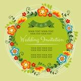Vår som gifta sig Invittation Royaltyfri Fotografi