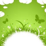 Vår-sommar grönt tema royaltyfri fotografi