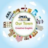 Vår stad Fotografering för Bildbyråer