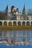 Vår Velikii Novgorod Arkivfoton