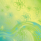 Vårbakgrund. Blommor på den abstrakta backgroen Stock Illustrationer