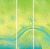 Vårbakgrund. Blommor på den abstrakta backgroen Royaltyfri Illustrationer