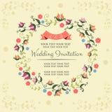 Vårbröllopinbjudan Royaltyfria Bilder