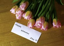 Vårbukett av tulpanfotoet Royaltyfria Bilder