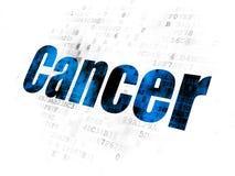 Vård- begrepp: Cancer på Digital bakgrund royaltyfri illustrationer