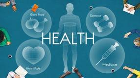 Vård- begrepp för sjukvård för WellbeingWellnessvitalitet arkivbild