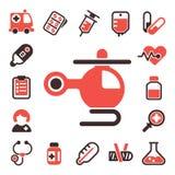 Vård- för vektorsymboler för medicinskt nödläge kapsel för kemikalie för vetenskap för laboratorium för drog för läkarbehandling  royaltyfri illustrationer