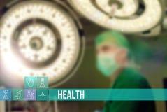 Vård- medicinsk begreppsbild med symboler och doktorer på bakgrund Royaltyfria Foton